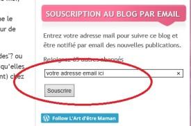 souscrire par mail
